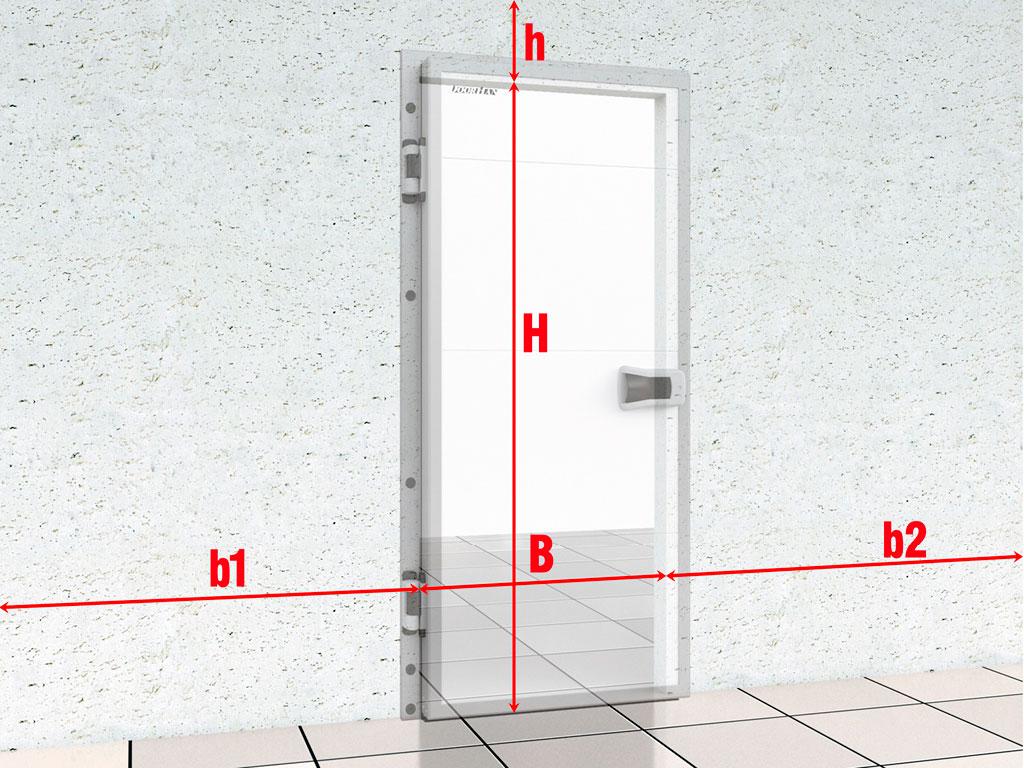 Подготовка-строительного-объекта-Дверь-промышленная-распашная-для-охлаждаемых-помещений ДорХан