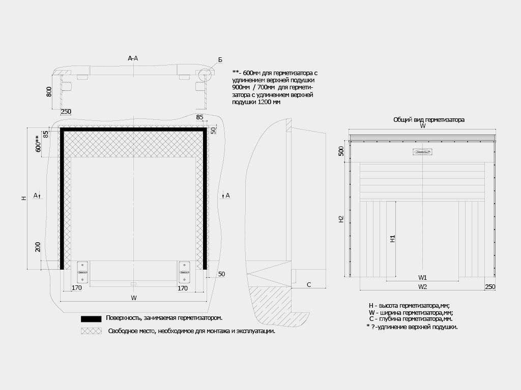 Герметизатор надувной серии DSHINF ДорХан