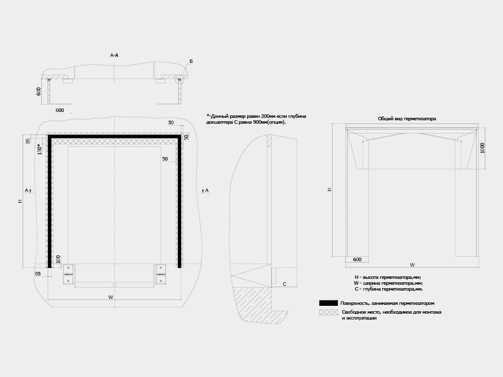 Подготовка-строительного-объекта-Герметизатор-с-жесткой-рамой-серии-DSHRD ДорХан