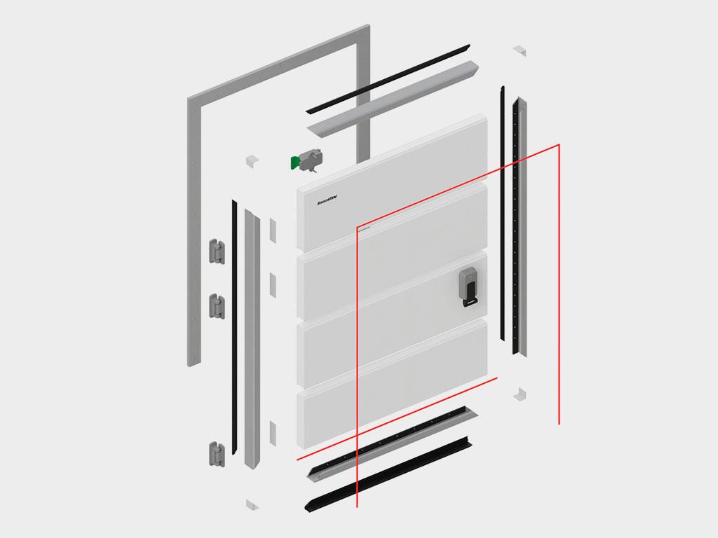 Полная ремонтопригодность - возможность замены любого элемента, включая отдельные панели полотна ДорХан