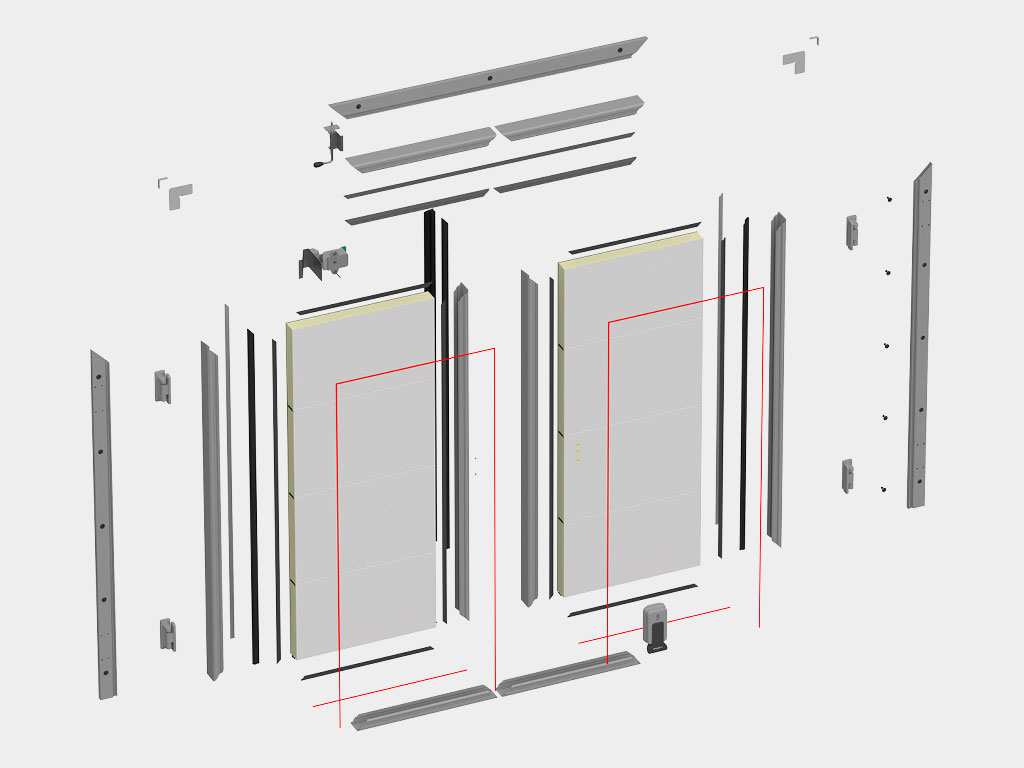 Полная ремонтопригодность. Возможность замены любого элемента, включая отдельные панели полотна ДорХан