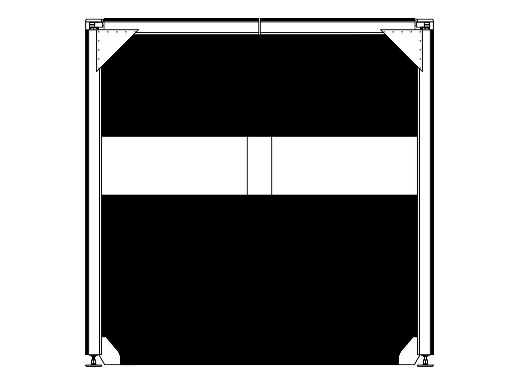 Полотно с прозрачной панелью ДорХан