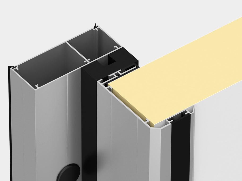 Повышенная герметизация помещения обеспечивается благодаря надёжному пролеганию полотна к раме ДорХан
