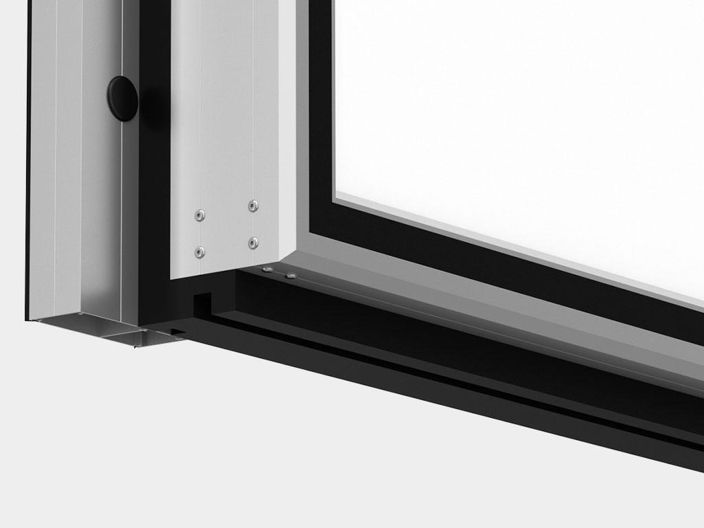 Повышенная коррозионная стойкость: для окантовки полотна дверей используются алюминиевые профили ДорХан
