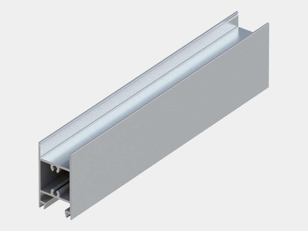 Профиль створки горизонтальный 64 × 35 мм (арт. AHDS35 0108) ДорХан