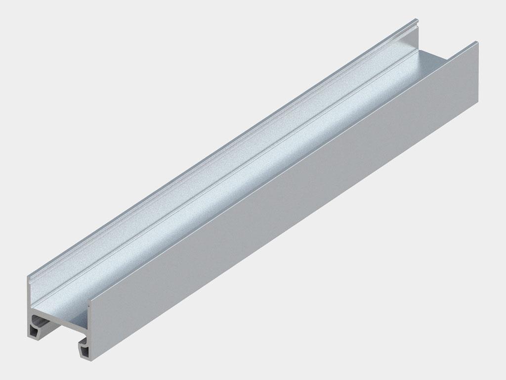 Профиль ствoрки вертикальный с вырубкой в торце 30 × 35 мм (арт. AHDS35 0106.FREZ) ДорХан