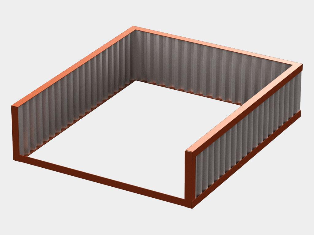 Рама для бетонирования. Изготавливается в соответствии с монтажными размерами уравнительной платформы. ДорХан