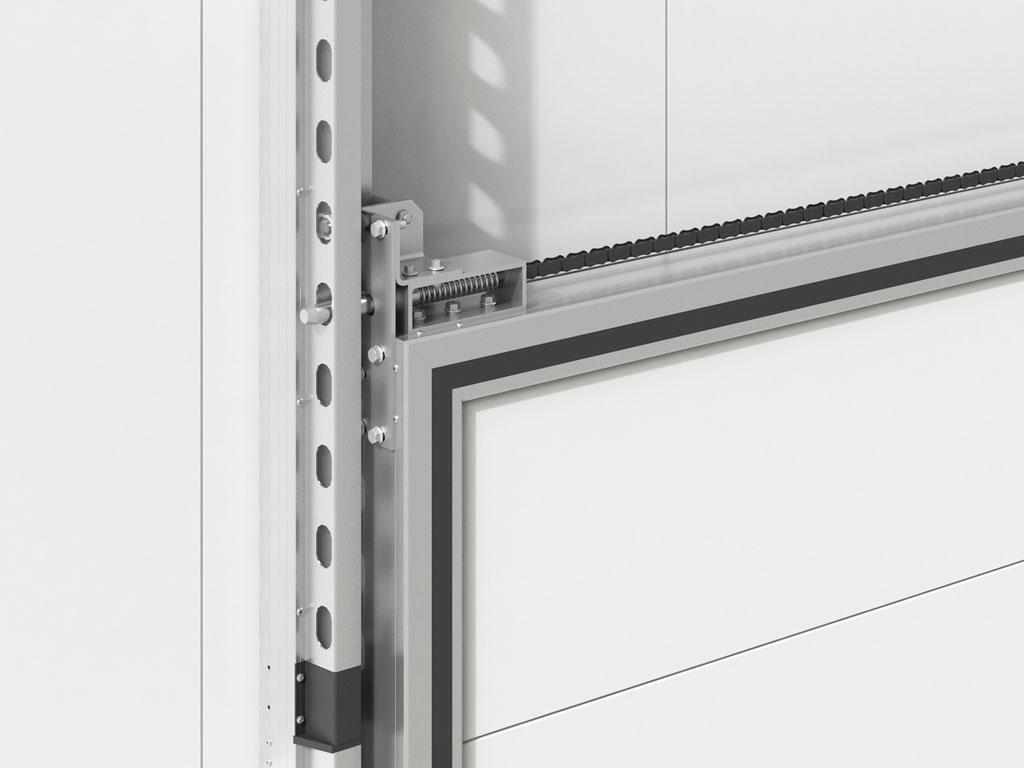 Система защиты от падения полотна обеспечивает высокую безопасность при эксплуатации двери. ДорХан