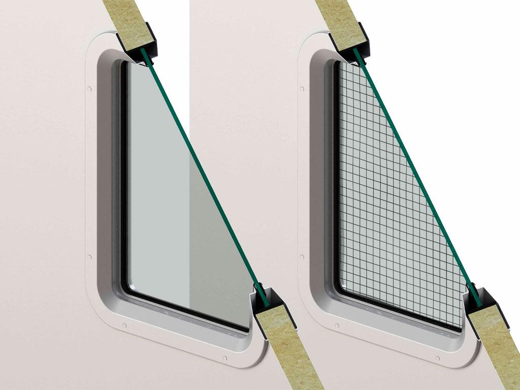 Стандартное стальное окно 300 × 400 мм с заполнением стеклом толщиной 6 мм (армированным/триплекс). Стальное окно нестандартных размеров под заполнение стеклом толщиной 6 мм (армированным/триплекс)