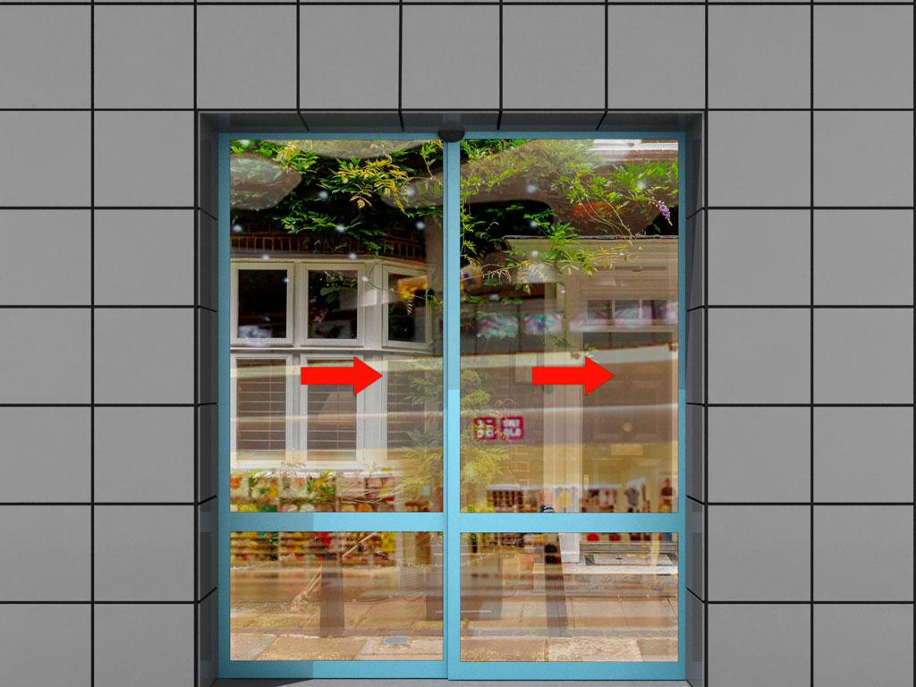 Телескопическая дверь (лево/правосторонняя)