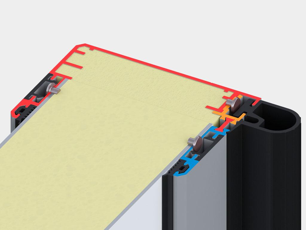 Теплоизоляция-(пенополиуретан),-двухкомпонентный-EPDM-уплотнитель-с-каналом-для-установки-нагревательного-кабеля. ДорХан