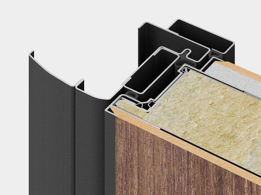 Три контура уплотнения: два D-образных уплотнителя из EPDM-материала с повышенной эластичностью и один контур из термоэластопласта (ТЭП — износостойкий уплотнитель специальной формы не деформируется при колебаниях температур, служит более 10 лет).