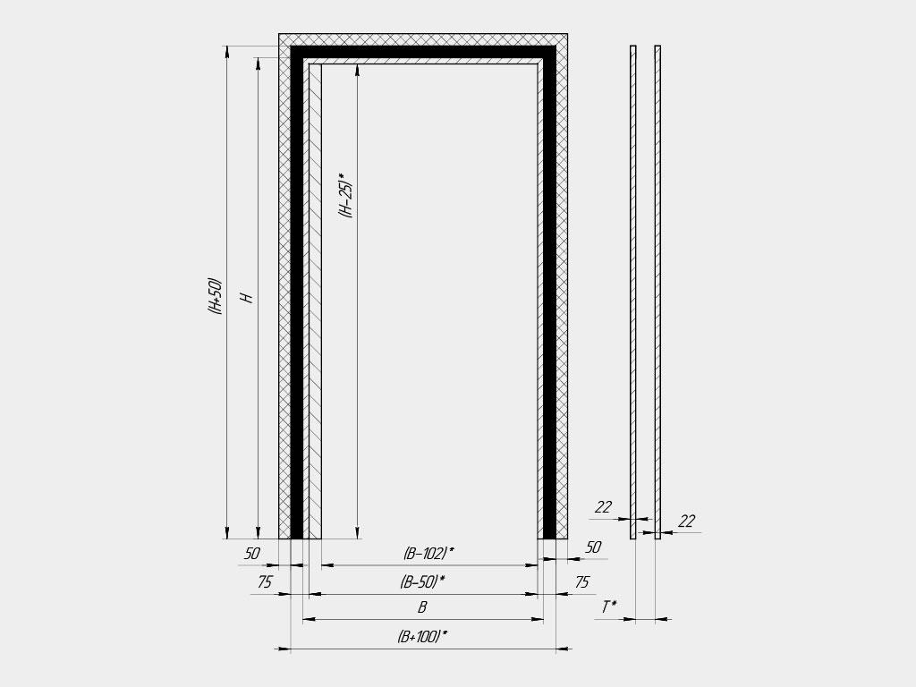Установка пластиковых маятниковых дверей производится внутри проема ДорХан