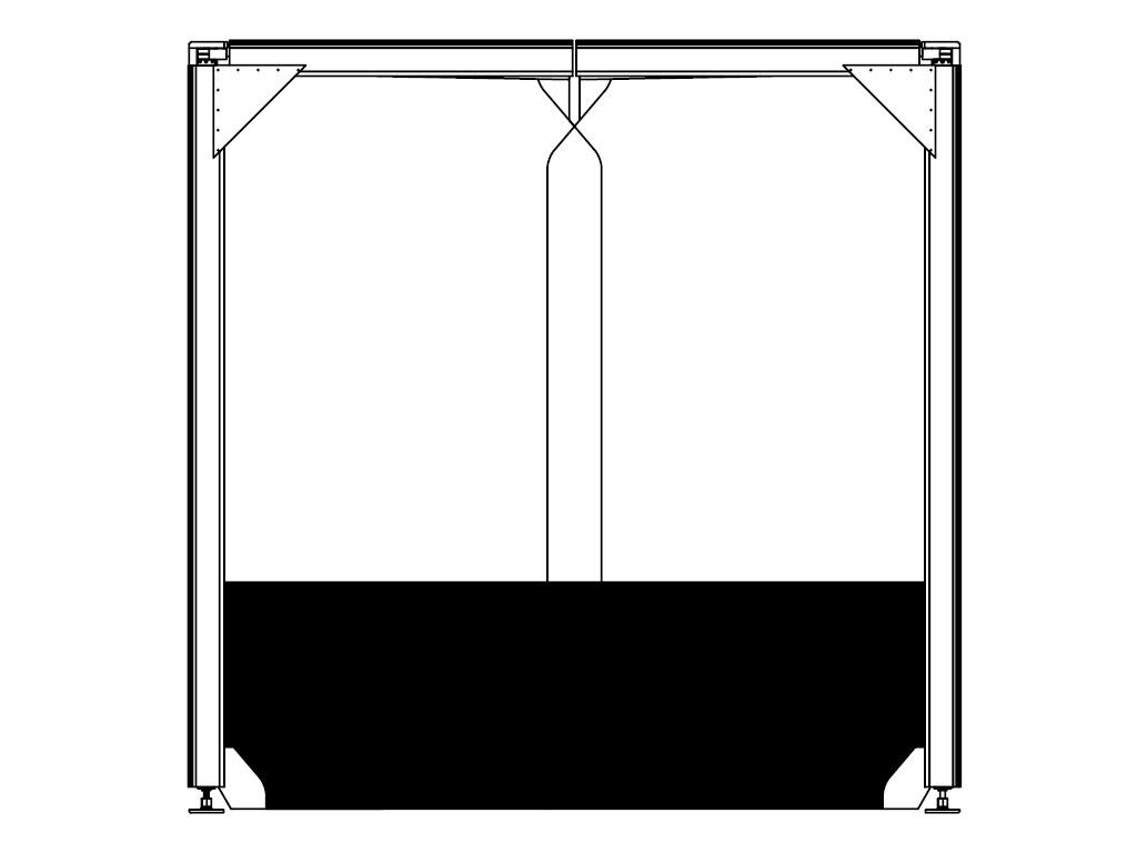 Верхняя часть полотна прозрачная, нижняя — непрозрачная ДорХан