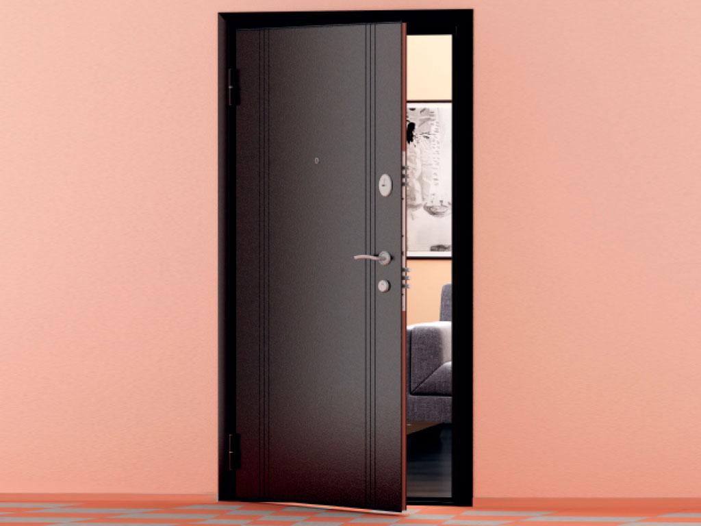 Внешняя сторона бытовой двери «Ламистайл» ДорХан