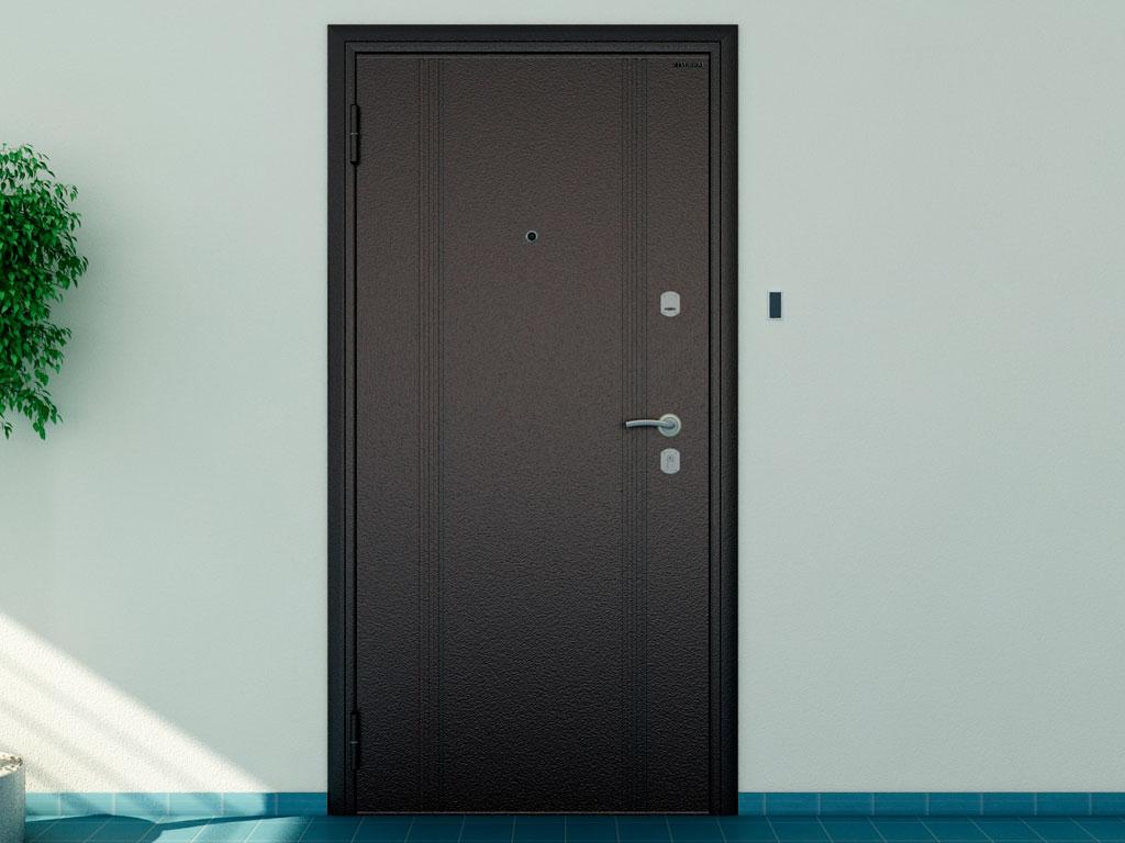 Внешняя сторона бытовой двери «Оптим» ДорХан