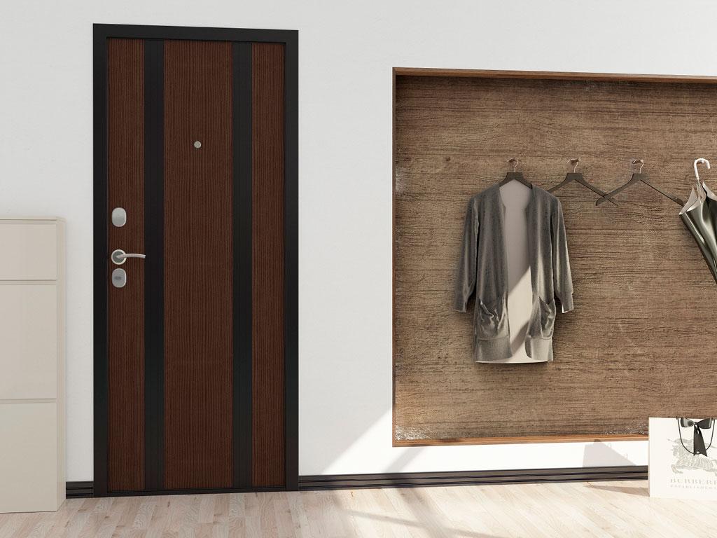 Внутренняя сторона бытовой двери «Ламистайл» ДорХан