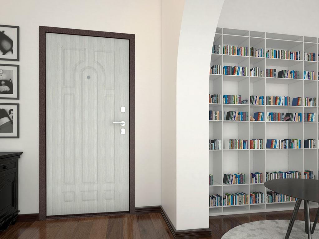 Внутренняя сторона бытовой двери «Оптим» ДорХан
