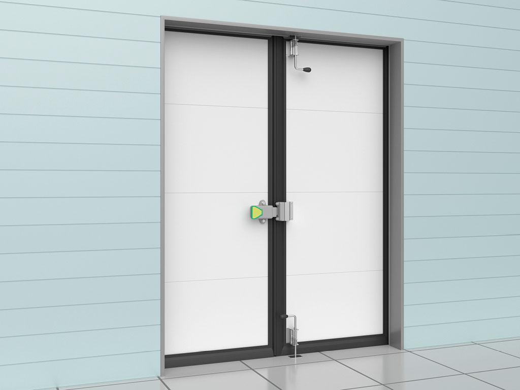Внутренняя-сторона-двери-Дверь-распашная-двустворчатая-для-охлаждаемых-помещений ДорХан