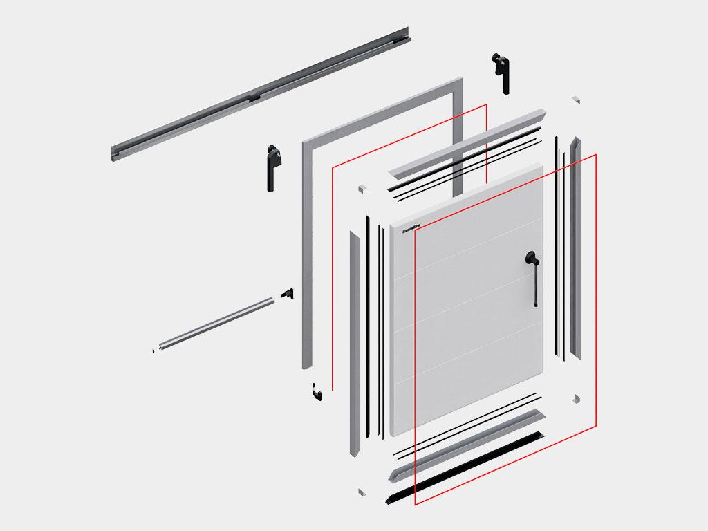 Внутренняя-сторона-двери-откатной-для-охлаждаемых-помещений-Преимущества ДорХан