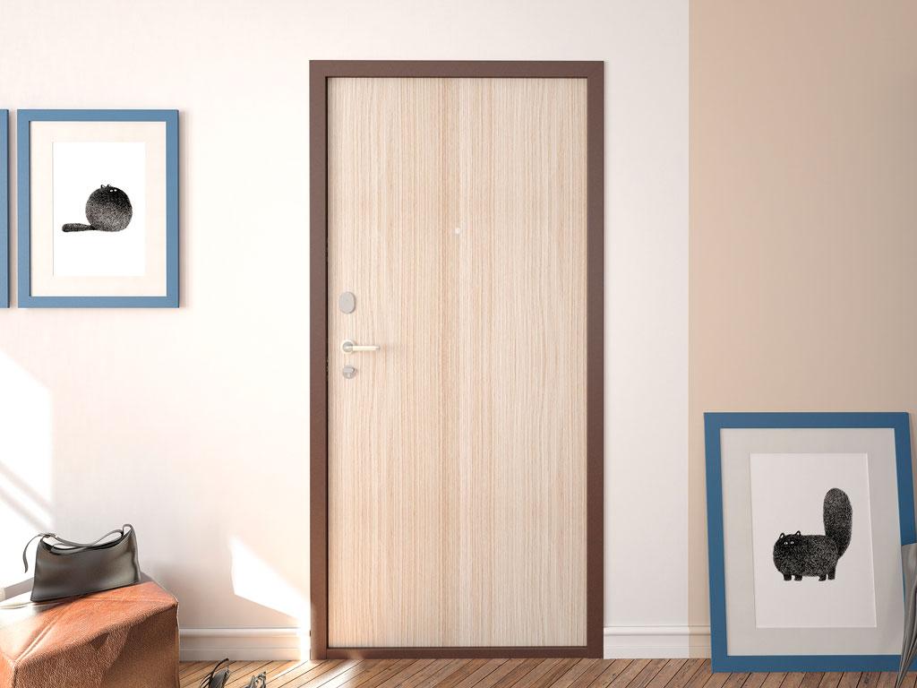 Внутренняя сторона защитной двери «Комфорт» ДорХан