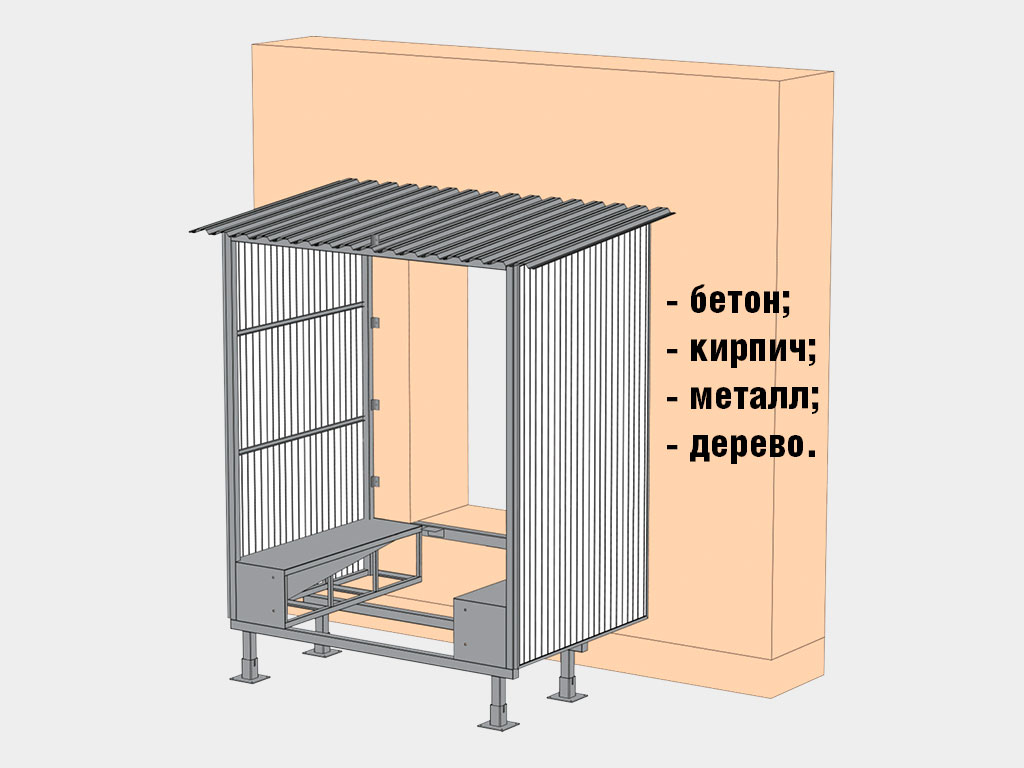 Возможность монтажа на стены из различных материалов (бетон, кирпич, металл, дерево, сэндвич-панели толщиной от 50 до 200 мм). ДорХан