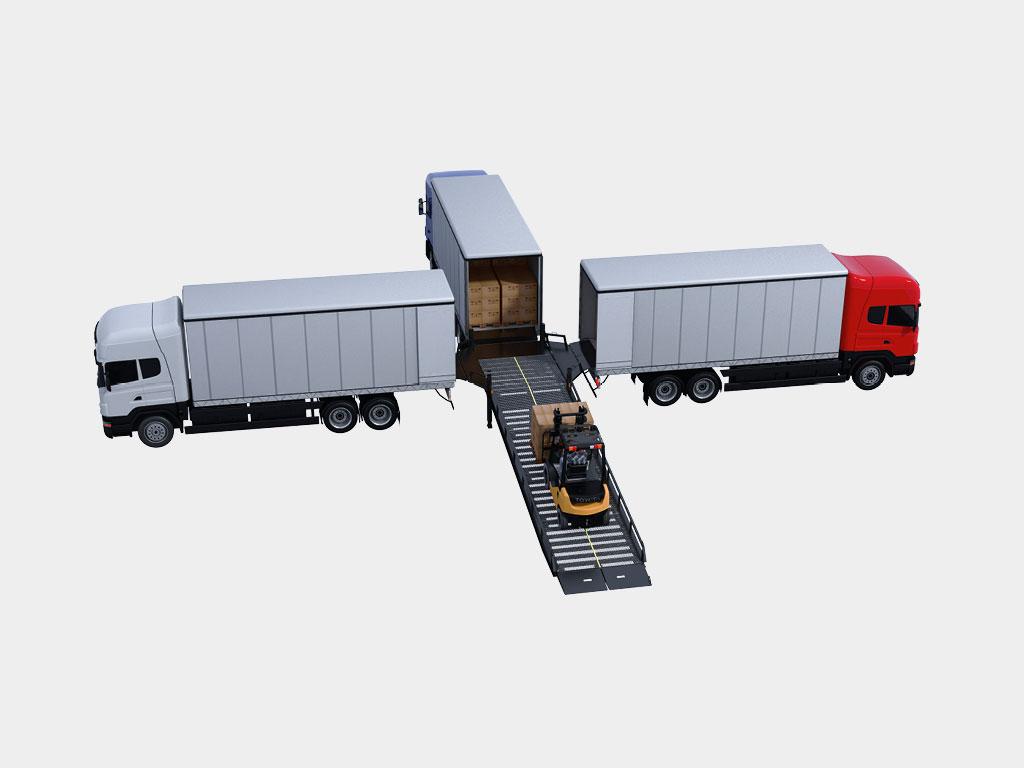 Возможность работы с тремя грузовиками одновременно ДорХан