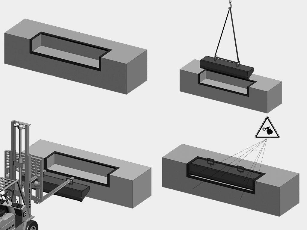 Встроенный-монтаж-Платформа-уравнительная-механическая-«Минидок»-серии-MDLM ДорХан