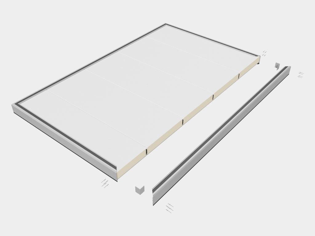 Высокая ремонтопригодность: возможность замены любого вышедшего из строя элемента, включая отдельные панели полотна ДорХан