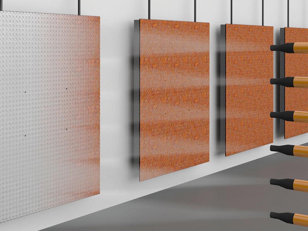 Защита от коррозии: порошковая краска, предварительная обработка поверхности в дробеструйной камере ДорХан