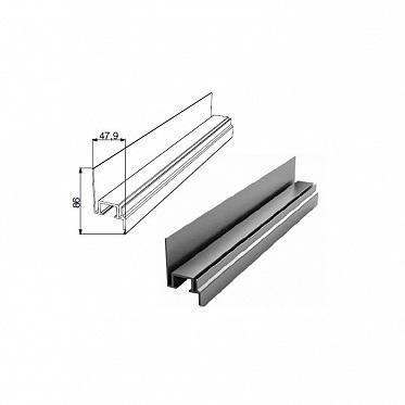 Алюминиевый профиль Ц-образный неравнополочный с шиной ДорХан