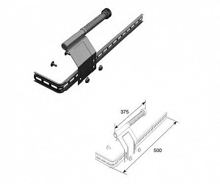 Комплект L/R пружинного амортизатора укороченного