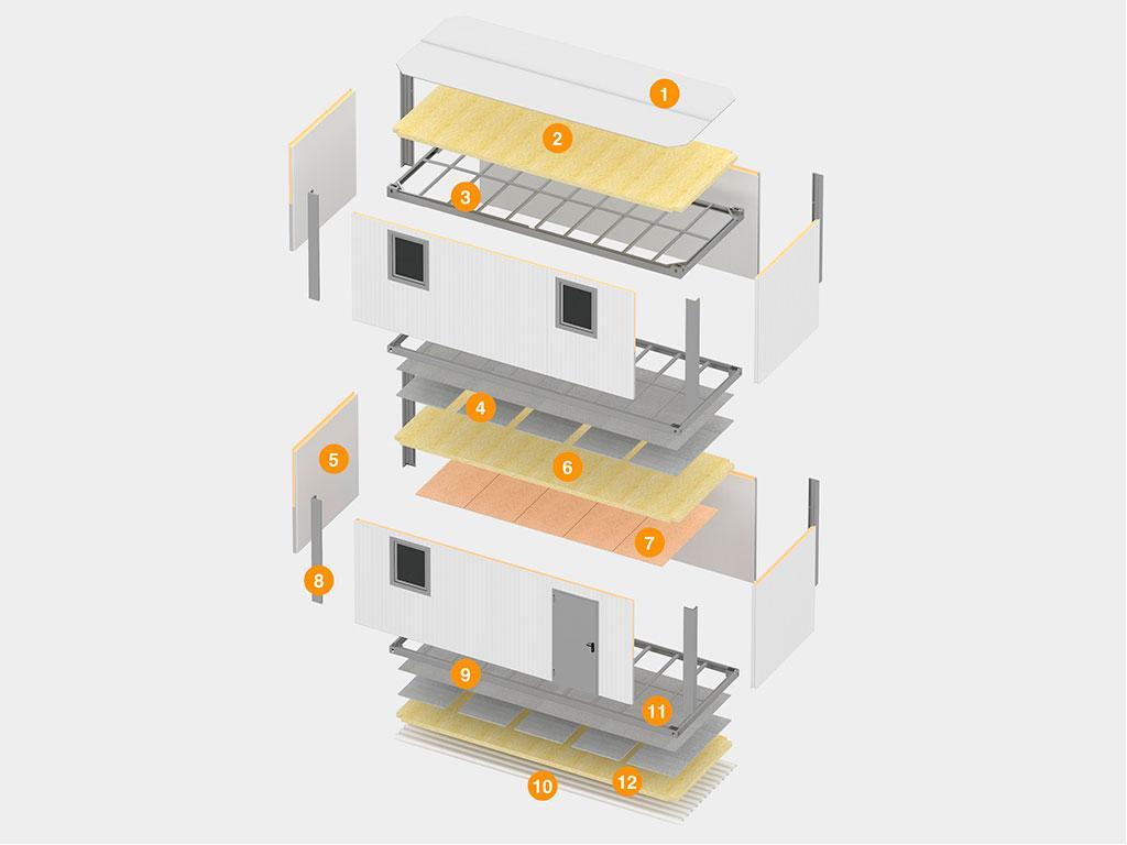 Модульные здания из сборно-разборных блок-контейнеров