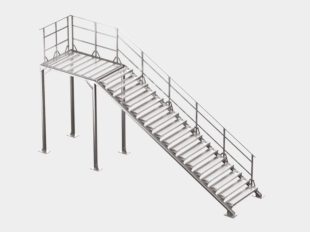 Маршевые лестницы (наружные и внутренние) ДорХан