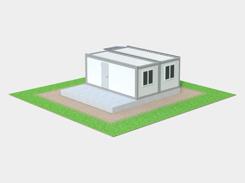 Монтаж на готовое бетонное основание дОРхАН