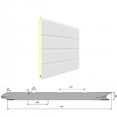 Панель «Доска» с ЗЗП 500 мм Дерево/Стукко ДорХан