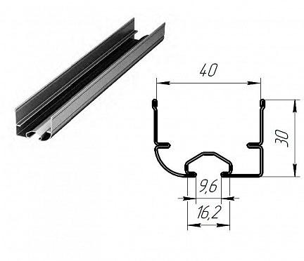 Профиль нижний стальной для гаражных секционных ворот ДорХан