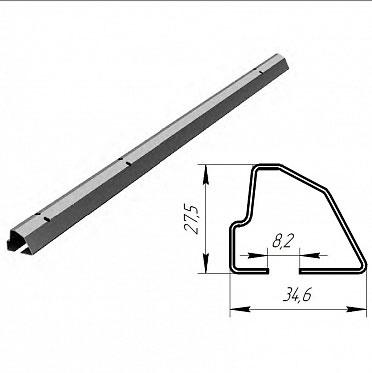Профиль нижний встраиваемый для панелей ЗЗП 40 мм ДорХан