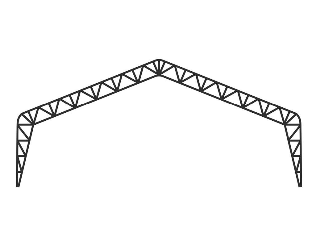 Рама ТМК из труб прямоугольного или квадратного сечения. ДорХан