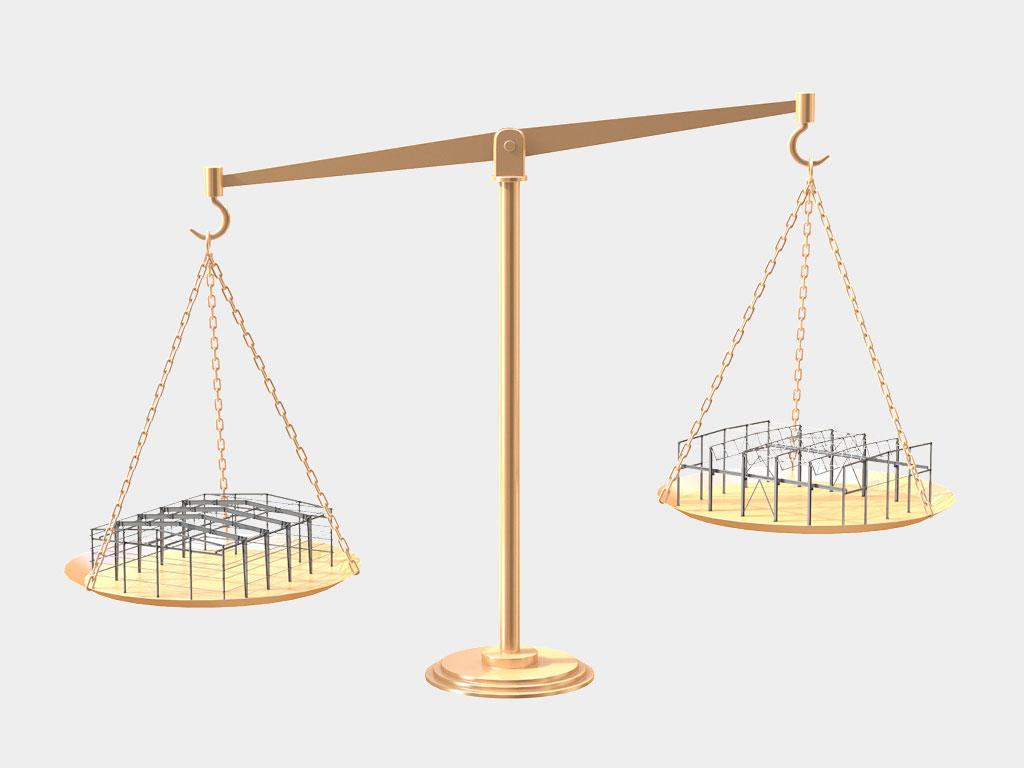 Снижение веса несущего ригеля покрытия за счёт применения ферменного решения ДорХан