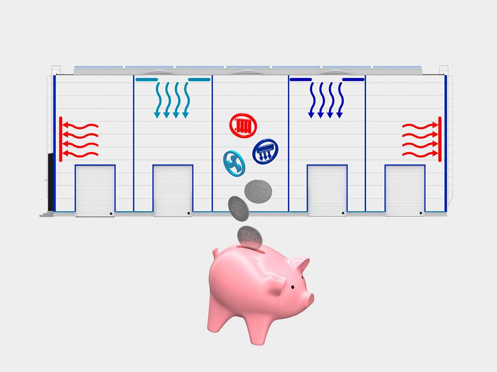 Снижение затрат на эксплуатацию здания (обогрев, вентиляция, кондиционирование) ДорХан