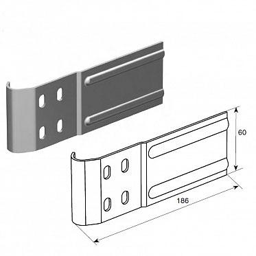 """Соединительная пластина (150 мм) для вертикальных направляющих 2"""" (Типа F) ДорХан"""