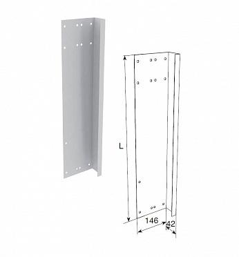 Средняя боковая крышка 475мм левая усиленная для панелей с отв. для крепл. ДорХан