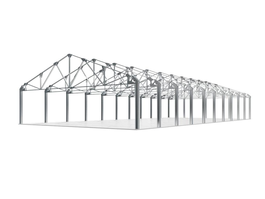 Стандартные решения в данном проекте относятся к зданиям: шириной равной 12,18, 24 м; высотой до несущей балки от 4,2 м до 9 м с шагом 0,6 м; длиной от 18 м с шагом 6 м (без ограничений по максимальной длине); снеговой район до IV (240 кг/м²); ветровой район до IV (48 кг/м²).