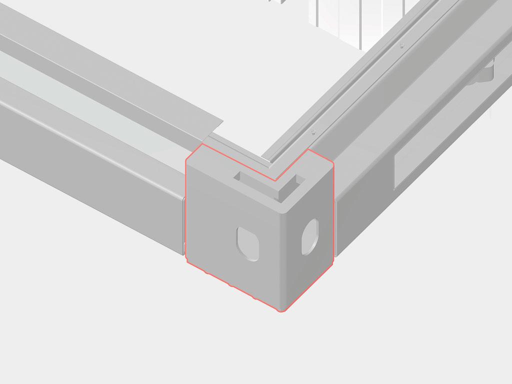 Угловой элемент рамы обеспечивает разъемное соединение конструкции. ДорХан