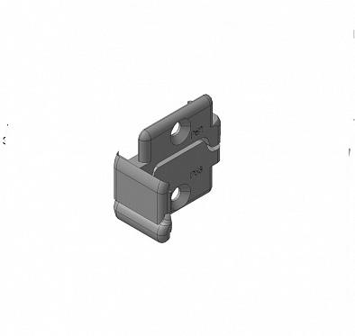 Заглушки алюминиевых Ц-профилей для проема калитки (левая сторона) ДорХан