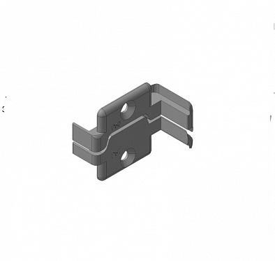 Заглушки алюминиевых Ц-профилей для проема калитки (правая сторона) ДорХан