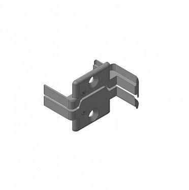 Заглушки-алюминиевых-Ц-профилей-створки-калиток-секционных-ворот-(Петли-слева) ДорХан