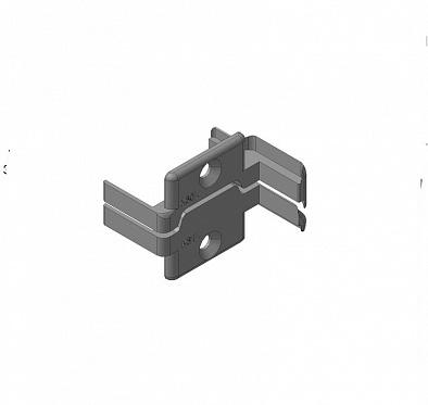 Заглушки алюминиевых Ц-профилей створки калиток секционных ворот (Петли слева) ДорХан