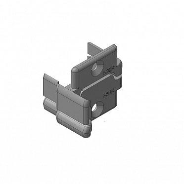 Заглушки алюминиевых Ц-профилей створки калиток секционных ворот (Петли справа) ДорХан